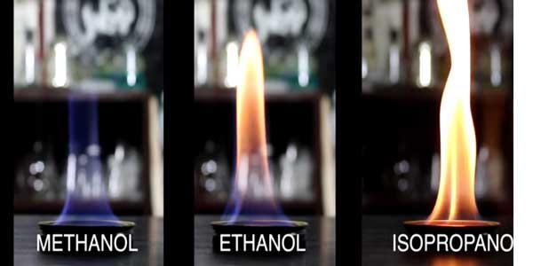 تست شعله ایزوپروپیل الکل