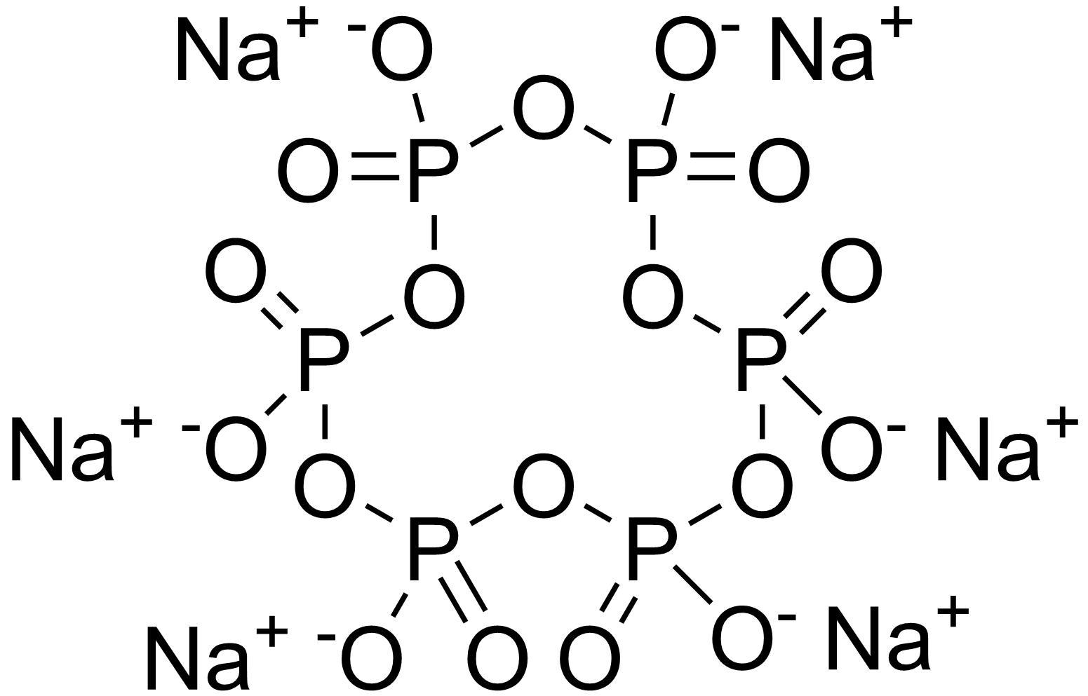 ساختار سدیم هگزا متا فسفات