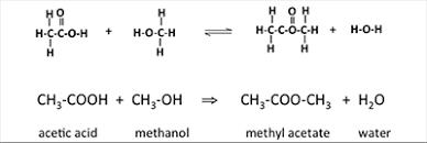 واکنش تولید متیل استات